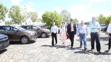 Ministro recibió detalles de 60 vehículos paraguayos a ser usados en la Asamblea del BID